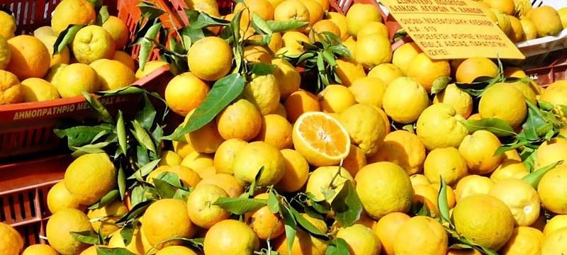 Zitronen auf demMarkt